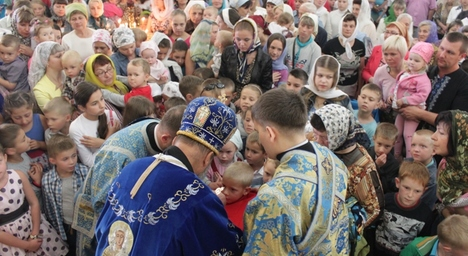 У Житомирі молилися за благополучний навчальний рік. Фото
